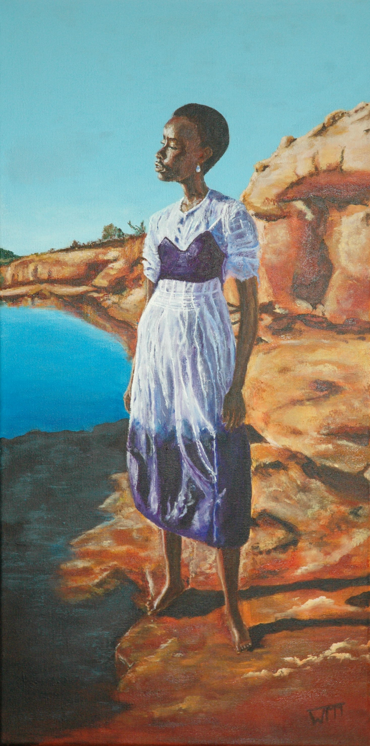 40 x 80cm, acryl op linnen, €265,- (studie)