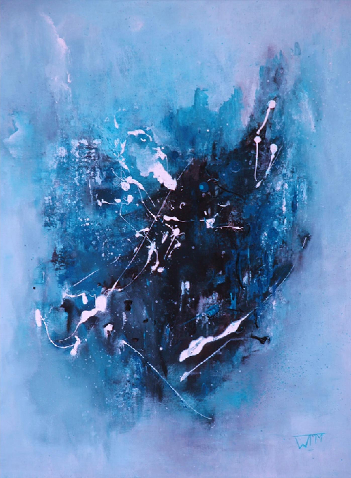 60 x 80cm, acryl op linnen, met gebruik van materialen (textuur), €285,-
